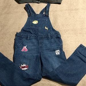 Girl's emoji overalls